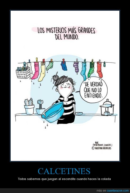 calcetines,colada,escondite,hogar,lavadora,ropa,tareas