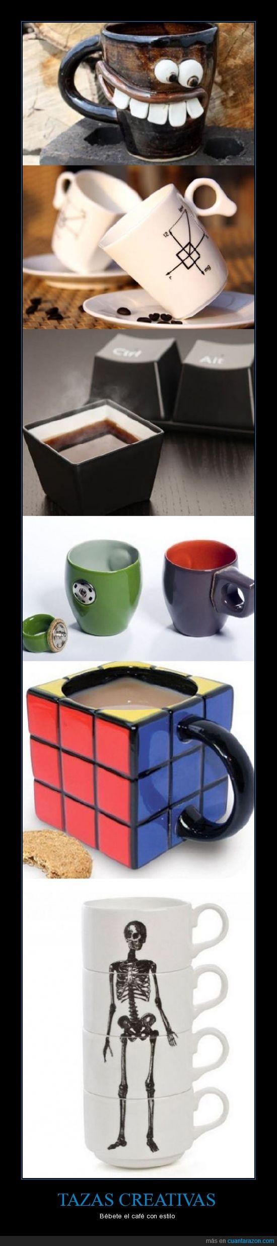café,creativas,estilo,Tazas