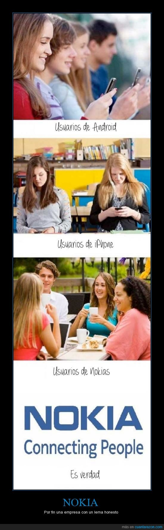 android,conexion,connecting people,gente,hablar,iphone,nokia