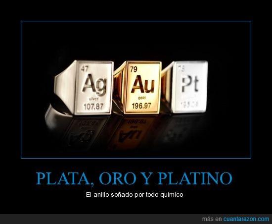 anillo,oro,peso atomico,plata,platino,simbolo,tabla periodica