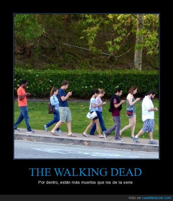 Caminantes,moviles,smartphones,Tecnologia,Zombies