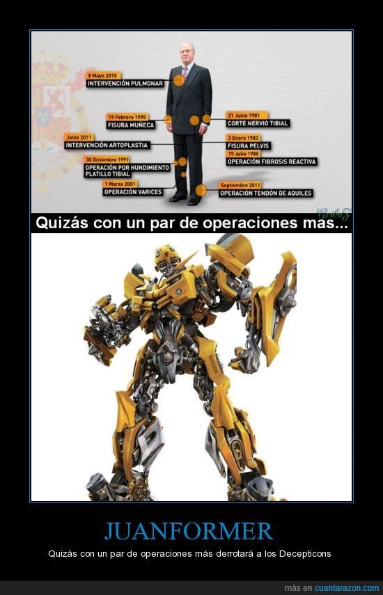 borbon,juan carlos,juanformer,operacion,rey,transformer
