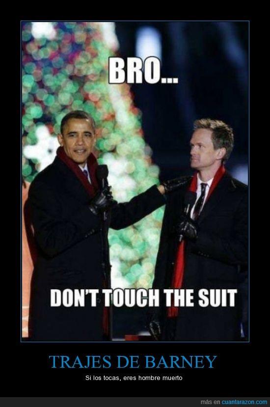 barney stinson,bro,obama,tocar,traje