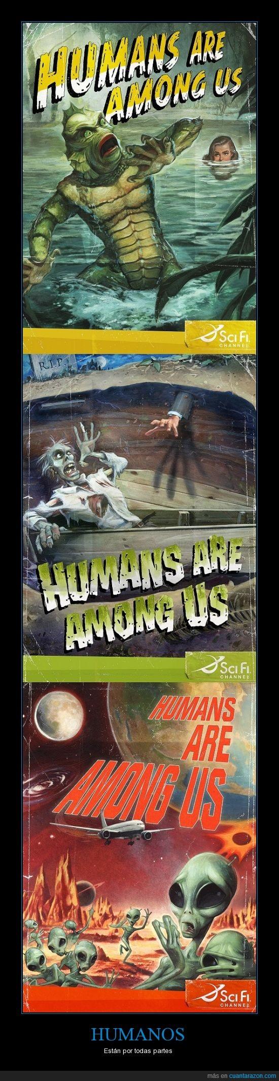 alienigenas,están por todas partes,humanos,monstruos,nos atacan,zombies