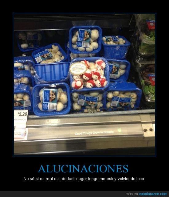 champiñones,mario,nintendo,setas,supermercado