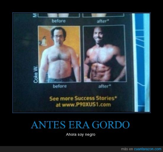 adelgazar,after,before,fuerte,gordo,musculoso,negro