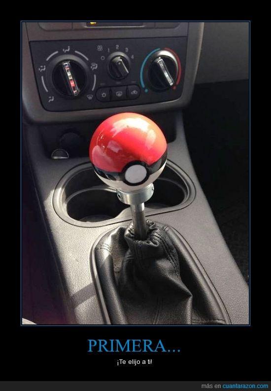 cambio,coche,marcha,pokeball,pokemon