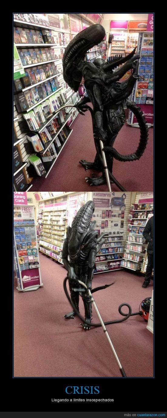 alien,aspiradora,crisis,game,tienda,videojuegos