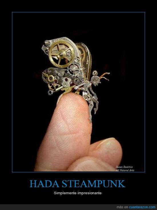 arte,dedo,engranaje,hada,mano,pequeña,steampunk