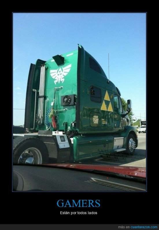 camion,carretera,gamers,trifuerza,verde,zelda