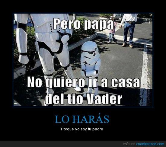 Darth Vader,padre,stormtrooper,tío
