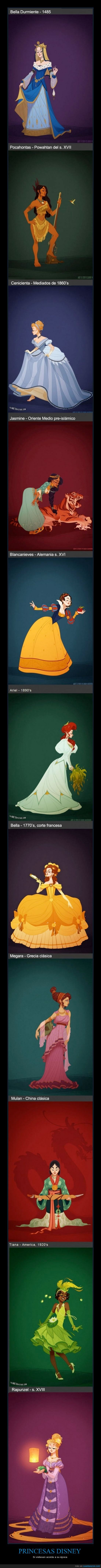 ariel,Aurora,Bella,blancanieves,Cenicienta,jasmin,Megara,mulan,pocahontas,princesas disney,rapunzel,tiana