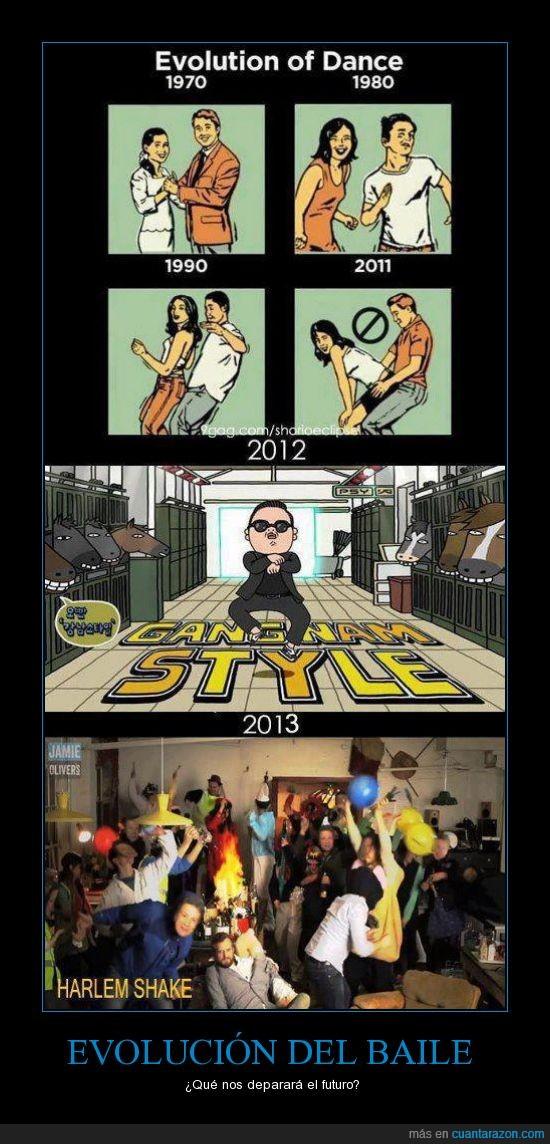baile,evolucion,gagnam style,harlem shake,la siguiente moda sera bailar desnudo,psy