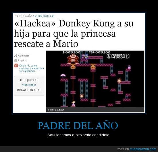 donkey kong,hack,nintendo,padre del año,super mario,videojuego