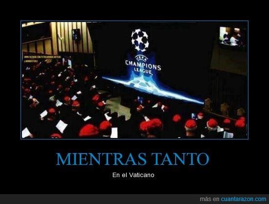 champions,fumata blanca,fumata negra,futbol,papa,vaticano