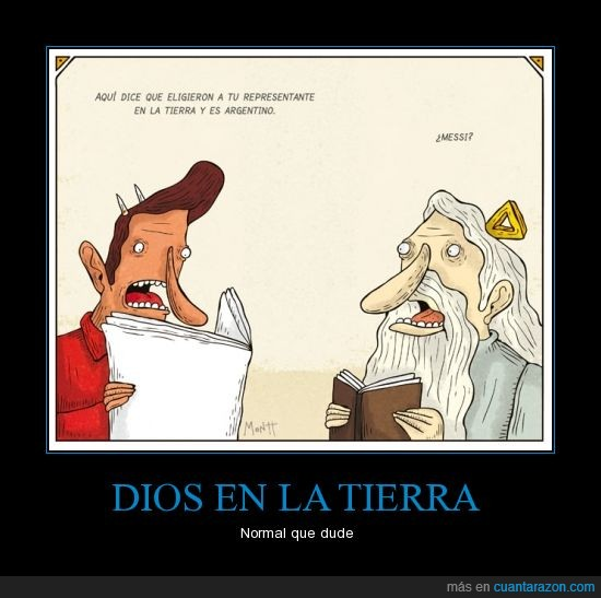 Dios,francisco,Messi,Papa,Satán sin bigote.