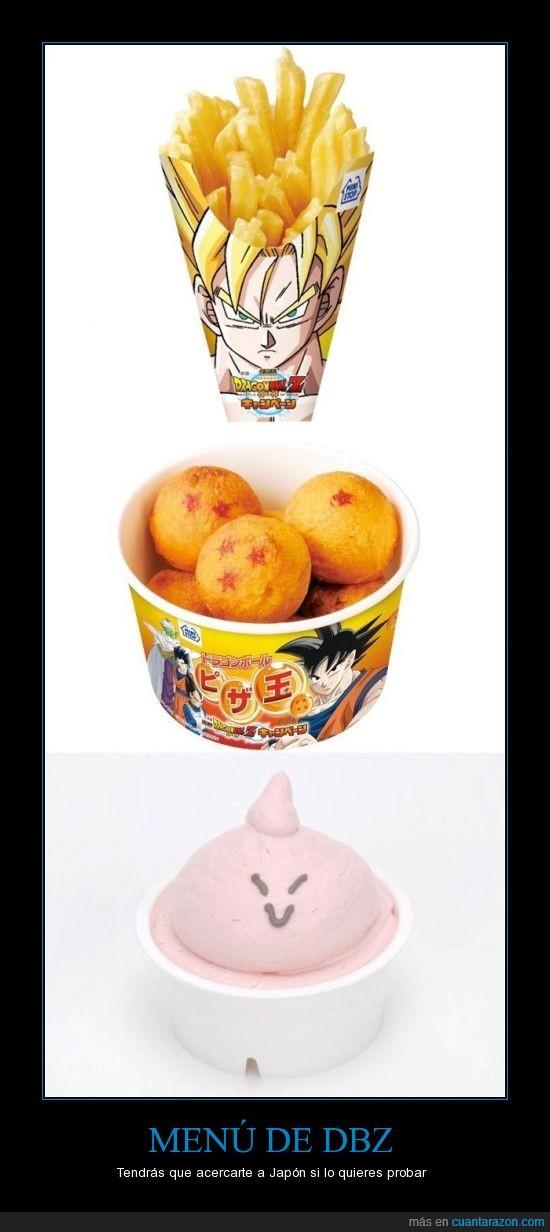 bu,comida,dragon,dragon ball z,esferas,goku