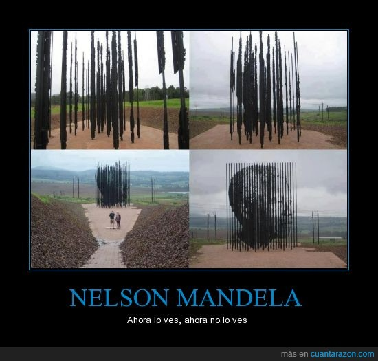 acero,arte,barra,escultura,Nelson Mandela,palo,retrato