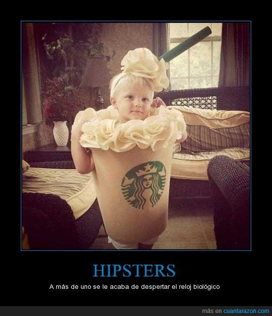 cafe,disfraz,frappucchino,hipster,nata,niña,niño,starbucks,vaso