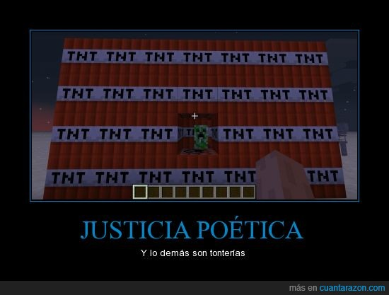 creeper,justicia,justicia poética,minecraft,TNT
