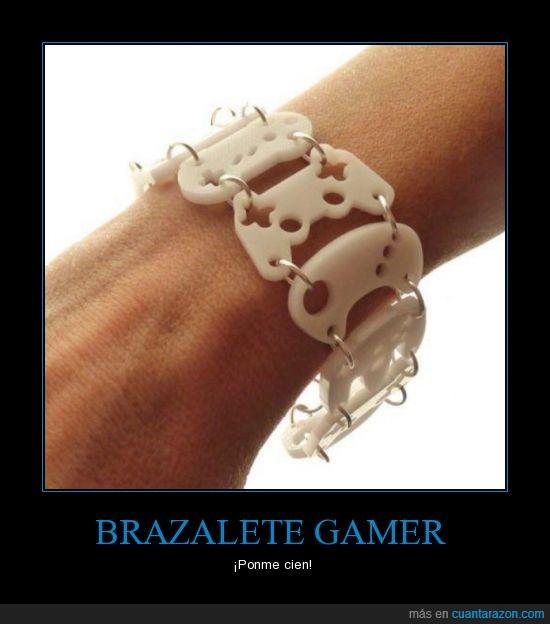 brazalete,consola,friki,gamer,mando,mega drive,nes,ps,pulsera,sega,video juegos,xbox