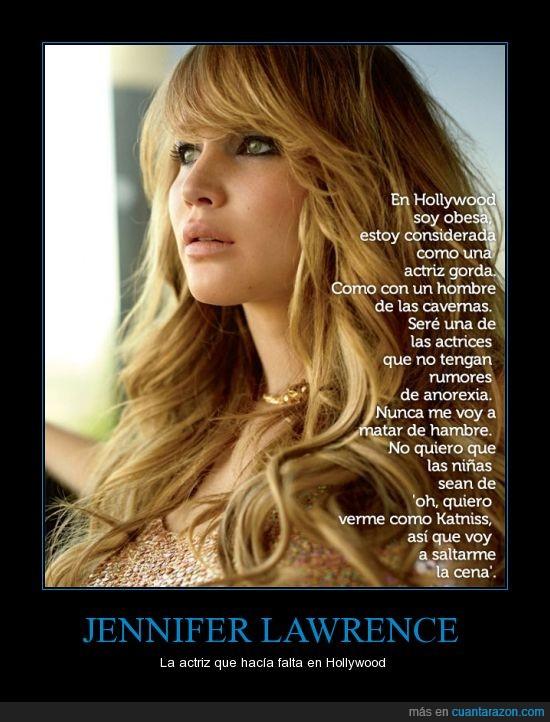 anorexia,bien amueblada,ejemplo a seguir,jennifer lawrence,juegos del hambre,katnis,tía buena