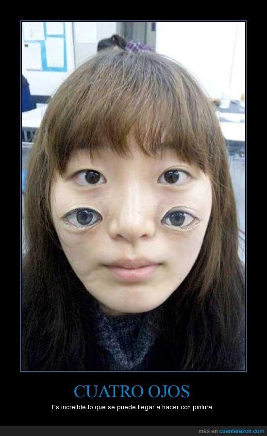 abajo,asiatica,cara,china,cuatro,maquillaje,mejilla,ojos