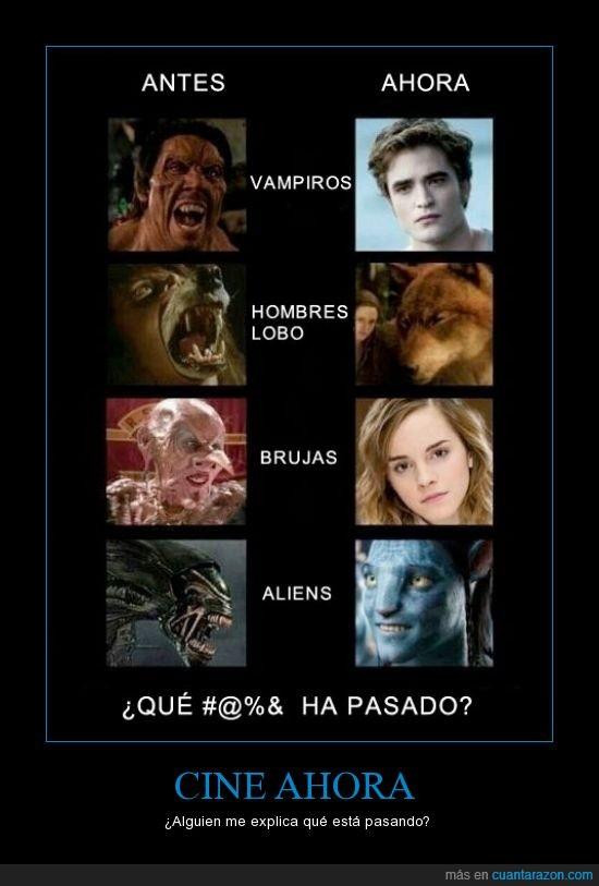 alien,Avatar,brujas,harry poter,lobos,vampiros