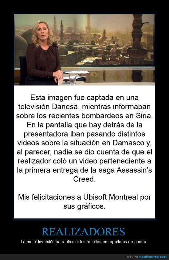 Assassin's Creed,Damasco,Guerra,realizadores,Siria,Television
