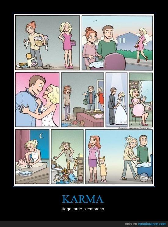 carrito,cuernos,esfuerzo,hija,karma,madre,mujer,novia,rubia