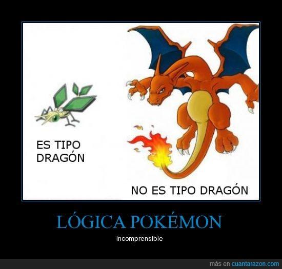 Charizard,incomprensible,lógica Pokémon,tipo dragón,Vibrava