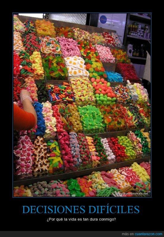 chucerías,chuches,dulces,escoger,gominolas,variedad
