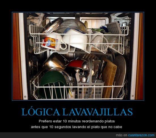 lavaplatos,lavavajillas,logica,pereza,plato,vago