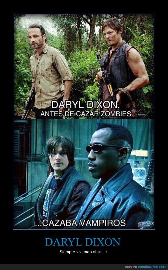 Blade,Daryl,The Walking Dead,vampiro,zombie