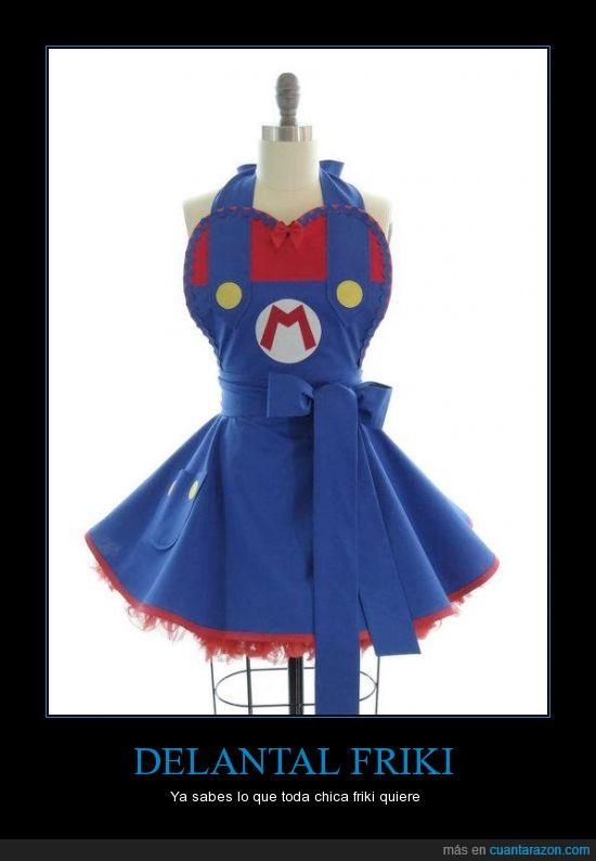 delantal,falda,lazo,mario,tutu,videojuegos