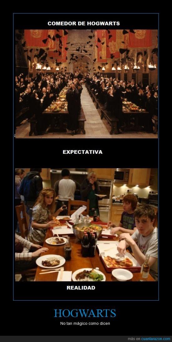 comedor,emma watson,gryffindor,harry potter,hogwarts,magia