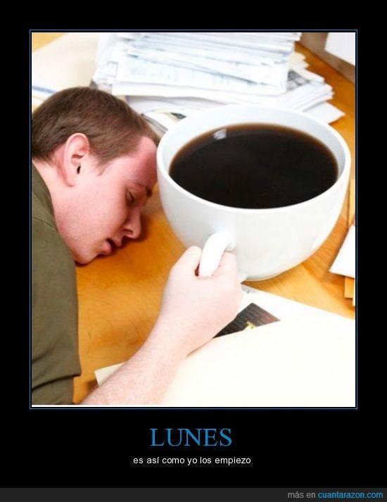 cafe,dormir,lunes,sueño
