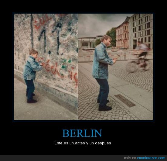 antes,berlin,derribar,después,muro,niño,pasado