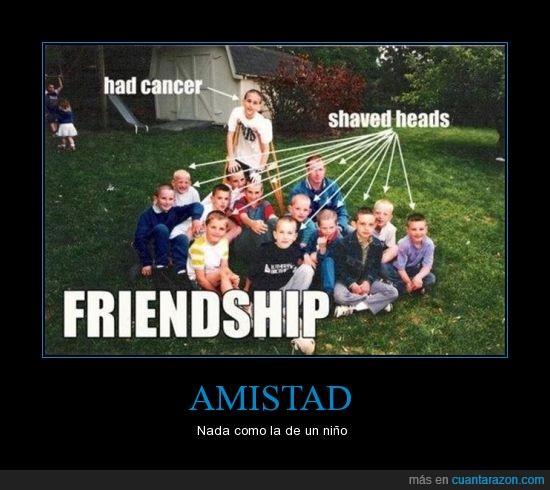 admirable,amigos,amistad,cáncer,conmovedor,enternecedor,fe,niños