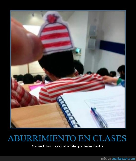 buscar,clase,dibujo,gorro,papel,pintar,universidad,wally