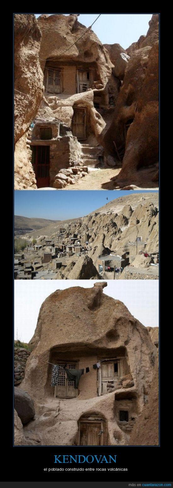 casa,forma,poblado,rara,roca,volcan