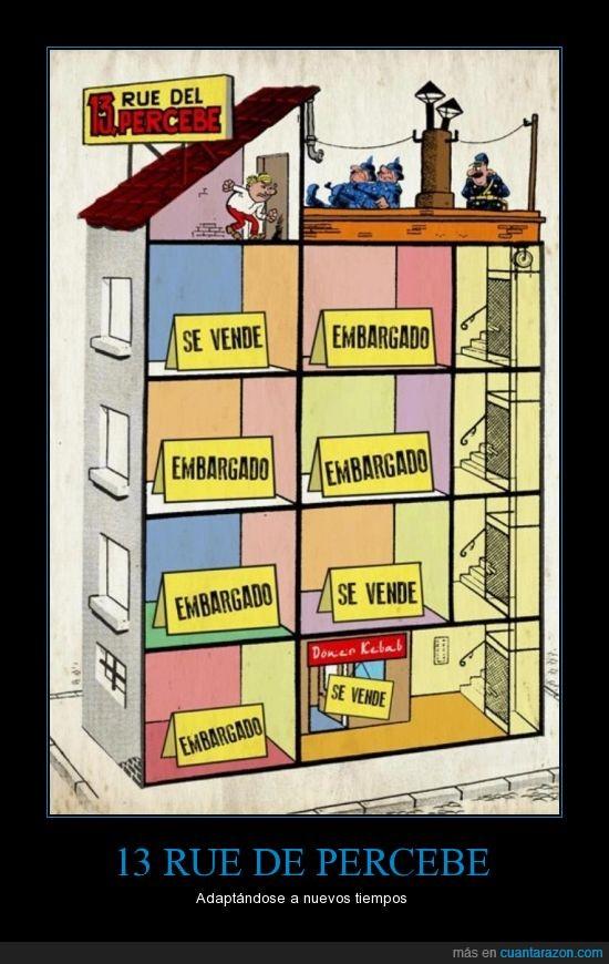 13 rue de percebe,Cómic,desalojo,embargo,Ibañez