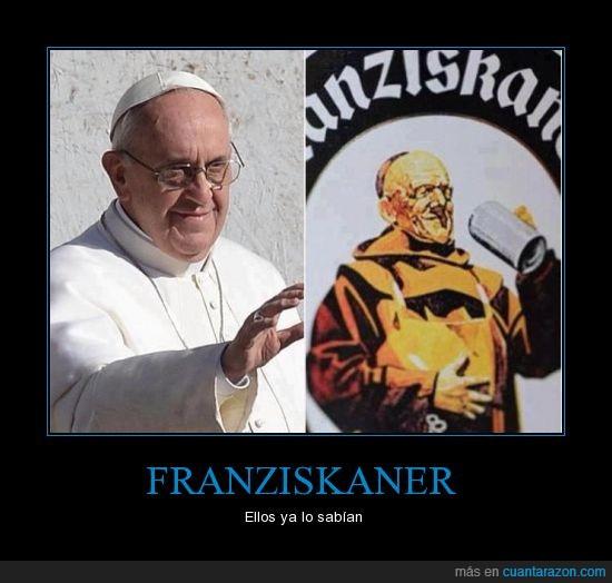 cerveza,francisco,franciskaner,papa