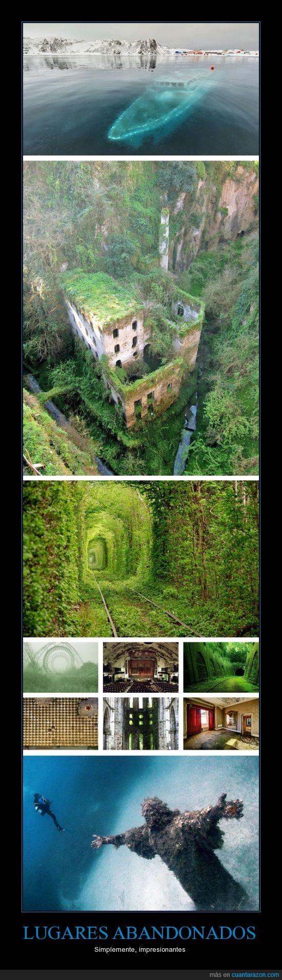 abandonados,increíbles,lugares,sitios