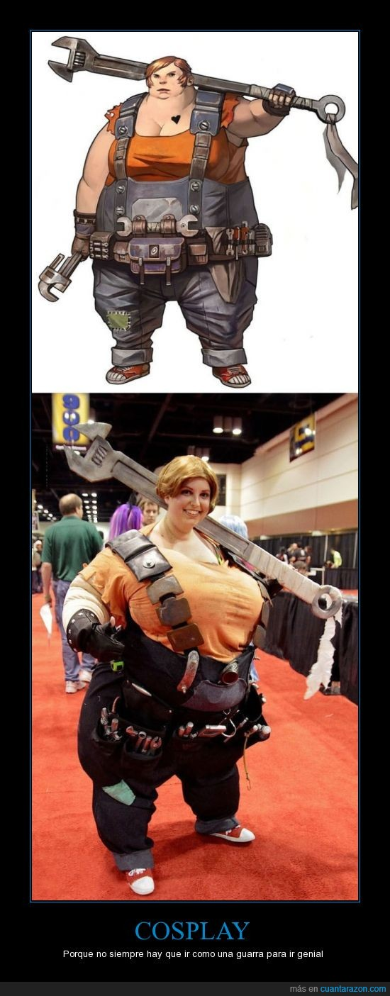 borderlands,corazon,cosplay,disfraz,ellie,gorda,llave inglesa