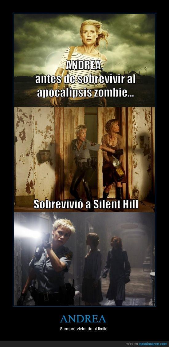 andrea,silent hill,The Walking Dead