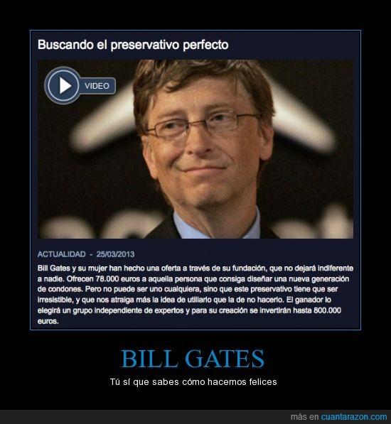 bill gates,condon,feliz,hacer,preservativo