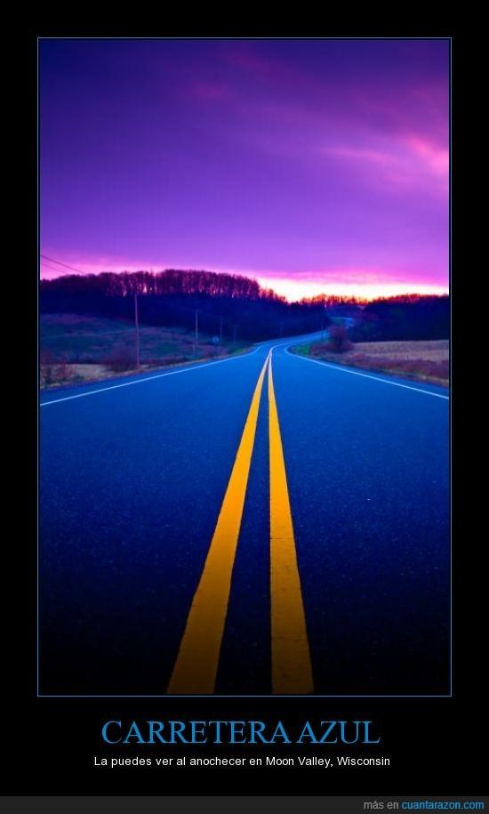 azul,carretera,eeuu,paisaje,wisconsin