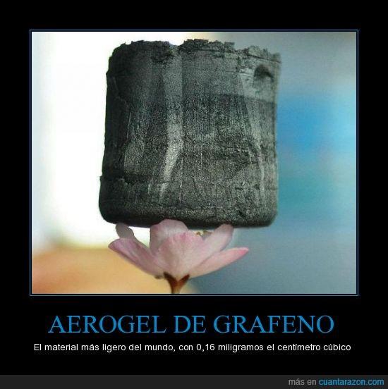 aerogel de grafeno,flor de loto,me recuerda a una piedra,miligramos,peso