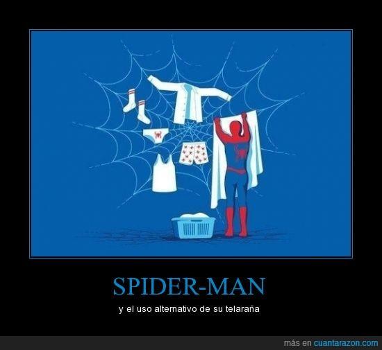 peter,ropa,secar,spiderman,telaraña,tender
